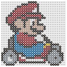 Plantilla Hama Mario Bros Kart www.tuburbuja.es