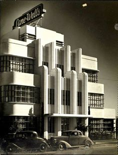 Art Deco: Lane-Wells Company headquarters in Los Angeles, circa 1939. This building still stands intact at 610 South Soto Street in Highland Park.