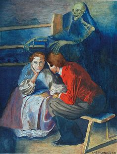 Andrzej PRONASZKO (1888-1961)  Fatum akwarela, gwasz, papier; 25,3 x 19,5 cm; sygn. p. d.: and. Pronaszko