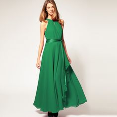 Hot selling fashion 2013 expansion bottom sleeveless chiffon full dress irregular vintage strapless long formal dress one piece-inDresses from Apparel & Accessories on Aliexpress.com
