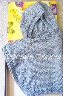 Tentando Tricotar: Poncho para bebê