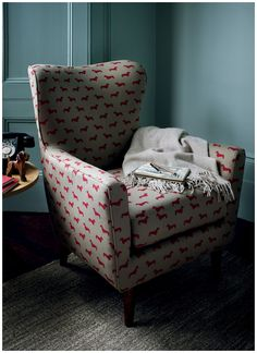 Time for a poll: Dachshund print chair – Cute or Corny?