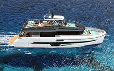 Scarica sfondi Azimut 80, 4k, mare, nave di lusso, Flybridge Barche a Motore