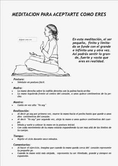 Meditación para encontrar el camino        Meditación para aceptarte como eres    Meditación de cambio          Para hacerte sentir cómodo ...