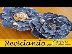 Diy Colar de flores jeans - YouTube