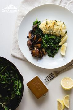 Roasted Mushrooms, Spinach Stuffed Mushrooms, Stuffed Peppers, Rockfish Recipes, Pacific Cod, Cod Recipes, Sauteed Spinach, Mushroom Recipes, Seafood Dishes