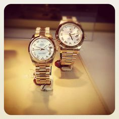 His and her's presidential Rolex
