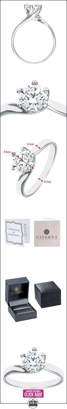 Citerna MR 4107W(P) - Anillo de compromiso de oro blanco de 9 quilates con circonita, talla 16,5 (18 mm)  ✿ Joyas para mujer - Las mejores ofertas ✿ ▬► Ver oferta: https://comprar.io/goto/B000S6LLIQ