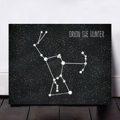 Orion Constellation Print, Orion Astronomy Print, Orion Giclee, The Hunter Print, Astronomy Print, Stars Wall Art, Stars Print by SvetaNPrints on Etsy