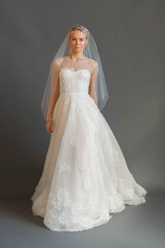 """Elodie"" by Sabrina Dahan Article: 5 Paris-Inspired Wedding Dresses by Sabrina Dahan Photography: Courtesy of Sabrina Dahan Read More: http://www.insideweddings.com/news/fashion/5-paris-inspired-wedding-dresses-by-sabrina-dahan/2526/"