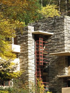 Fallingwater PA - zoom up to the house - Frank Lloyd Wright