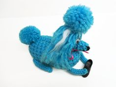 Happy Naughty Poodle Puppy: Turquoise Soap Cozy - pinned by pin4etsy.com