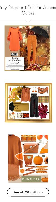 """""""Poly Potpourri-Fall for Autumn Colors"""" by jeannierose ❤ liked on Polyvore featuring Alexander McQueen, Her Shirt, Y/Project, Charlotte Olympia, Pringle of Scotland, Chantecler, Chanel, Christian Louboutin, Tory Burch and Burt's Bees"""