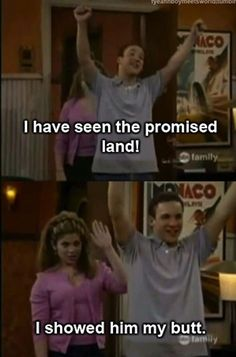 No one will ever get this excited over your butt. | 20 Ways Cory And Topanga Gave You Unrealistic Expectations About Relationships    I love them.