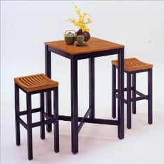 => Click picture to online Oak Veneer Pub Table and Bar Stool Set shopping at Amazon.ca