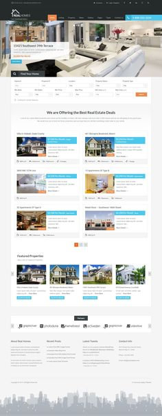Real Homes is a most selling WordPress theme for real estate #websites. It has a purpose oriented design and it comes loaded with tons of useful features. #realestate #housing #templates