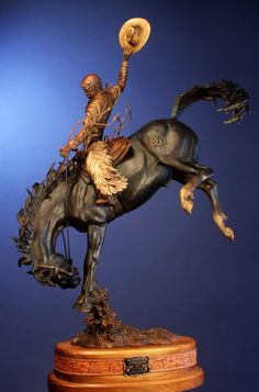 ''WYOMING COWBOY'' bronze sculpture by Chris Navarro will be place as a 16 feet tall bronze monument for the University of Wyoming in 2014 Horse Sculpture, Animal Sculptures, Bronze Sculpture For Sale, Wyoming Cowboys, Cowboy Art, Horse Drawings, Native American Art, Stone Art, Art History