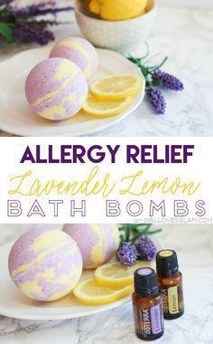 Allergy Relief Lavender Lemon Bath Bombs on www.girllovesglam.com #diyasthmarelief