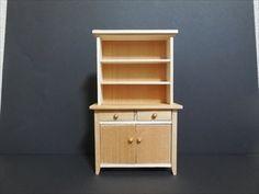 ドールハウス家具 カップボードの作り方 Dollhouse furniture Way of making a cupboard - YouTube