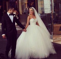Ball Gown Wedding Dresses , Beading Wedding Dresses