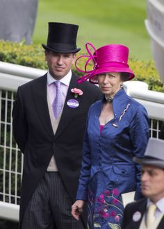 ✿ڿڰۣ(̆̃̃❤Aussiegirl #MAD #HATTER. Princess Anne with her son, Peter Phillips