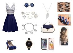 """""""Serenity"""" by cutiielover311 ❤ liked on Polyvore featuring Charlotte Russe, Nina, Olivia Burton, Love This Life, Jennifer Meyer Jewelry, Aspinal of London and Casetify"""