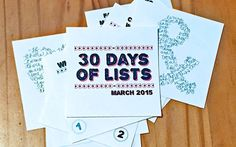 30 Days of Lists March 2015 album preparation  using exclusive free kit for registered participants | Marmalade Mementos