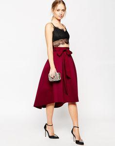 ASOS Premium Occasion Bonded Prom Skirt