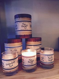 Locally inspired candles with sweet smells from San Francisco.... #TheHaight #GoldenGatePark #PacificHeights #PacHeights #SanFrancisco #BayArean #BuyLocal #ShopSmall