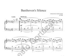 """Beethoven's Silence - Sheet Music"" is now available on ErnestoCortazar.net - Ernesto Cortazar (Relaxing Piano Music)"