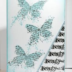 Visible Image stamps - Butterfly INKognito - Inky French Script - Imperfection is Beauty - stamps - Samantha K