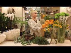 Уроки флористики. Анастасия Егорова, круглый букет с листьями магнолии - YouTube