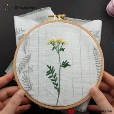 Embroidery Yellow Flowers - Embroidery for Beginner - Kanaviçe - Embroidery stitches - Couture Hand Embroidery Patterns Flowers, Embroidery Stitches Tutorial, Embroidery Flowers Pattern, Simple Embroidery, Machine Embroidery Patterns, Hand Embroidery Designs, Crewel Embroidery, Beaded Embroidery, Cactus Embroidery