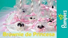 DIY Chá de Bebê de Princesa: Lembrancinha de Brownie de Chocolate | Pamp...