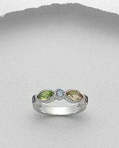 Inel argint, ametist, citrin, peridot, topaz,granat Peridot, Topaz, Gemstone Rings, Gemstones, Jewelry, Jewlery, Gems, Bijoux, Jewerly