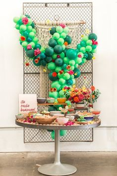 Let's Taco Bout It: A Cinco de Mayo Party Brimming with Cactus + Colorful Accents - Green Wedding Shoes - - Taco Party, Fiesta Party, Party Party, Baby Shower Parties, Baby Shower Themes, Kid Parties, Baby Showers, Cactus Balloon, Baby Gender Reveal Party