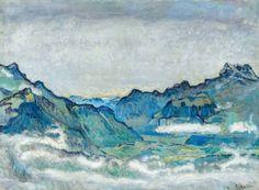 """Ferdinand Hodlers """"Rhonetal mit Dents du Midi"""" von 1912, 66 mal 89 Zentimeter groß, ist mit einer Erwartung von einer bis 1,5 Millionen Franken das Spitzenlos bei Beurret & Bailly"""