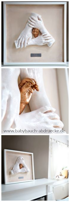 Family Hand casting, best keepsake ever! Made by german Artist Julia Schulze, www.babybauch-abdruecke.de