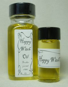 Happy Witch Oil by MagickalMiscellany on Etsy, $6.00