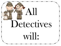 """Detective classroom rules posters Simple four rule system, detective themed. Features positive """"do"""" rules rather than """"do not"""" listings Classroom Rules Poster, Classroom Themes, Detective Theme, Mission Possible, Sunday School Rooms, Class Rules, Fun At Work, Teaching Tips, Back To School"""