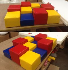 All of our Soft Play products are manufactured in-house and made to measure to suit your room and colour requirements. Here is our Stepping Stones.