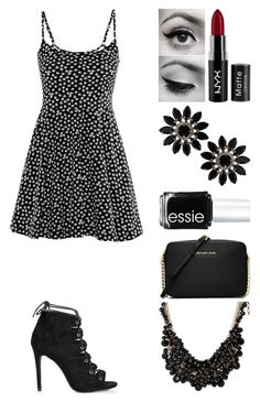 """""""Untitled #384"""" by emmmalaw ❤ liked on Polyvore featuring мода, H&M, Topshop, NYX, Essie, MICHAEL Michael Kors, sweet deluxe, women's clothing, women и female"""