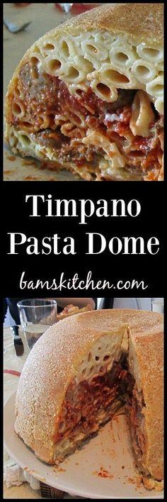 Timpano Pasta Dome / The Epic Holiday Dinner/ Italian/ http://bamskitchen.com