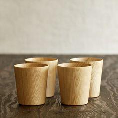5 mush home kami wood cups mugs glasses