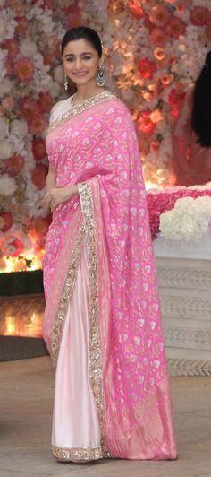 From Deepika Padukone To Priyanka Chopra, 8 Stunning Celebrity Saree Looks Wedding Dresses For Girls, Bridal Dresses, Bridal Sarees, Indian Designer Outfits, Designer Dresses, Indian Dresses, Indian Outfits, Priyanka Chopra Wedding, Priyanka Chopra Saree