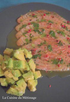 La Cuisine du Métissage: Emincé de saumon mariné