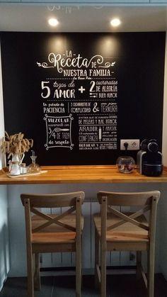 Nuestra receta love pinterest recetas vinilos y cocinas - Vinilos decorativos bilbao ...