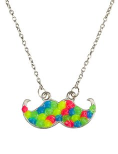 Spikey Mustache Necklace | Necklaces | Jewelry | Shop Justice