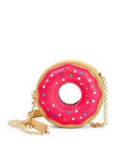 Betsey Johnson Doughnut Crossbody - Betsey Johnson - Handbags & Accessories - Macy's - Tap the LINK now to see all our amazing accessories, that we have found for a fraction of the price Unique Purses, Unique Bags, Cute Purses, Pink Purses, Pink Handbags, Purses And Handbags, Studded Handbags, Ladies Handbags, Studded Purse