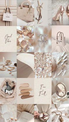 Neutral Room or Dorm Decor - Beige Cream Photo Wall Collage Kits